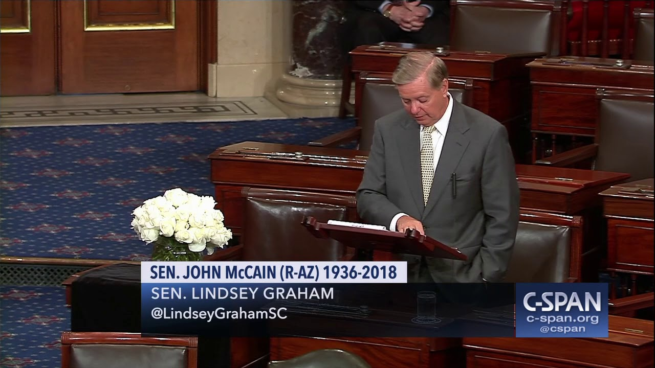 Sen  Lindsey Graham tribute to Sen  John McCain (C-SPAN)