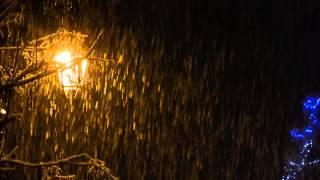 NEIGE QUI TOMBE DANS LA NUIT SNOW NIGHT NOEL HIVER CHRISTMAS