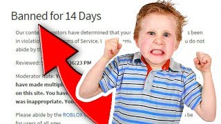 Kids Who Got Banned On Roblox FOREVER!