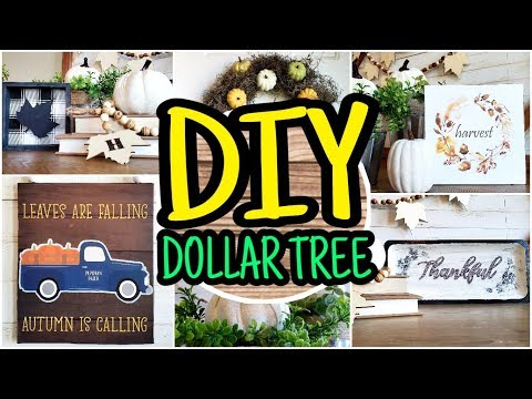 Dollar Tree DIY Fall Decor 🍁