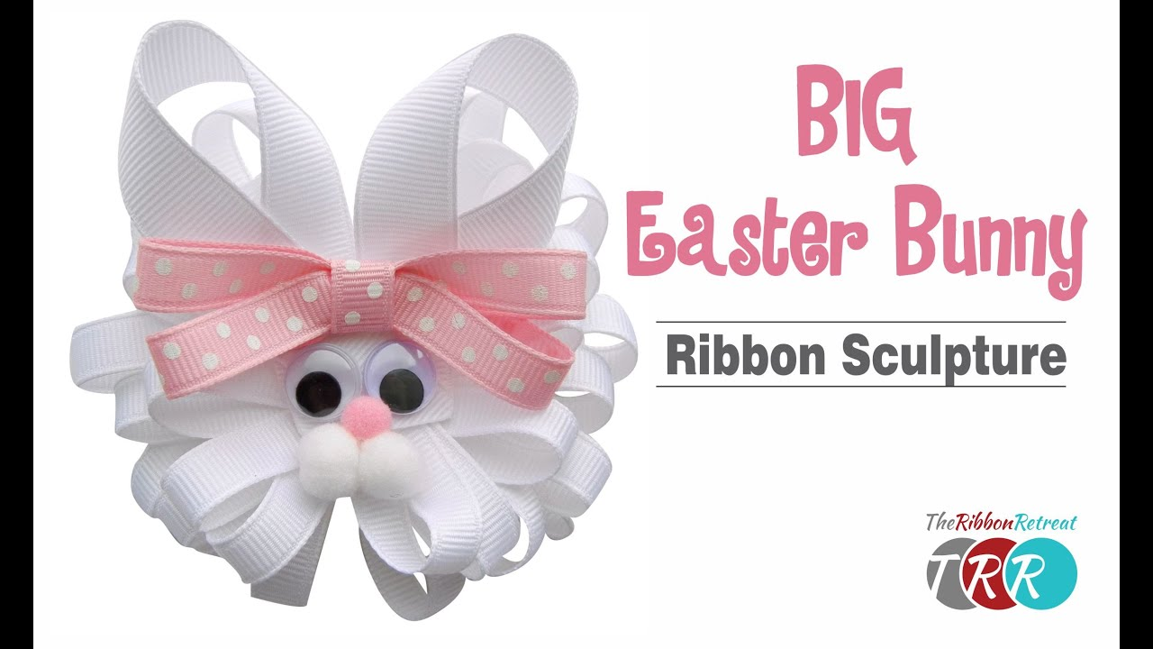 How To Make A Big Easter Bunny Ribbon Sculpture  Theribbonretreat