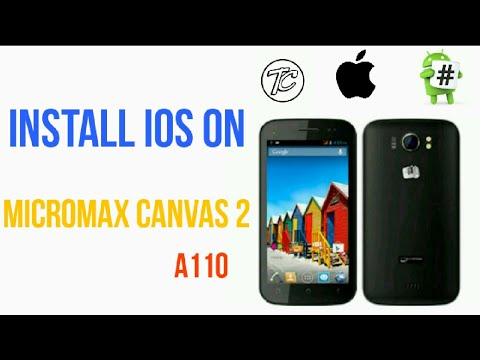 Install iOS on android #install ios on micromax canvas 2 a110 full guide  with download link