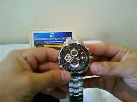 714cb465e302 Relógio Casio Edifice EF-543D-1AV Sebastian Vettel Omega Importados ...