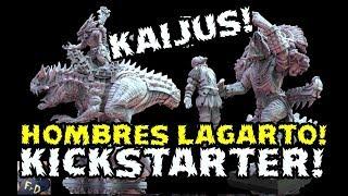 🔴GODZILLA! BRUTALES HOMBRES LAGARTO! EL EJERCITO DE DINOSAURIOS QUE DEBES TENER! KICKSTARTER KAIJU