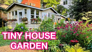 Tiny House HUGE Cottage Garden Tour | Organic Sun and Shade Gardens | Birds, Bees, Butterflies & Art
