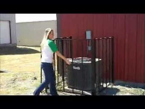Ac Security Cages Theft Protection Youtube