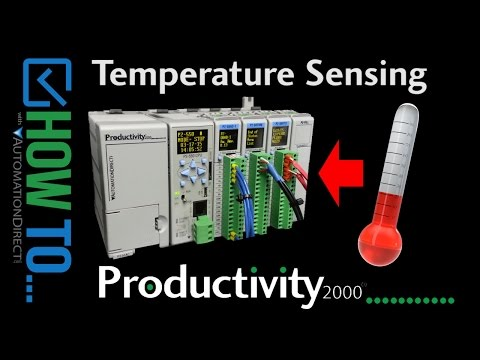 How To Sense Temperature with a Productivity Series PLC