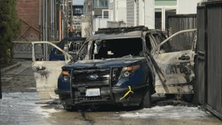 Man Throws Burning Torch Into Police Car With Cop Inside