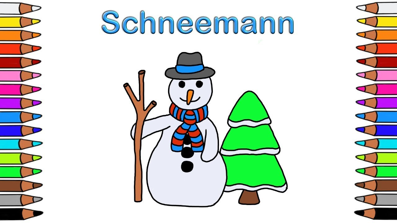 Ausmalbilder für Kinder 🎨 Malbuch Weihnachten ⛄ Youtube ...