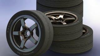 Построить автомобильный диск в SolidWorks