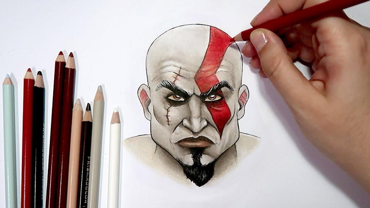 Como Desenhar O Kratos God Of War Passo A Passo Youtube