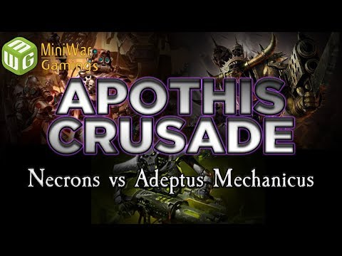 Necrons vs Adeptus Mechanicus The Apothis Crusade Warhammer 40k Battle Report Ep 13