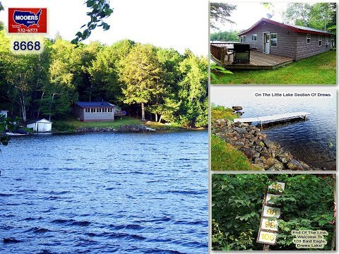 SOLD ! ME Waterfront Property | 100 Bald Eagle Lane Drews Lake | MOOERS REALTY 8668