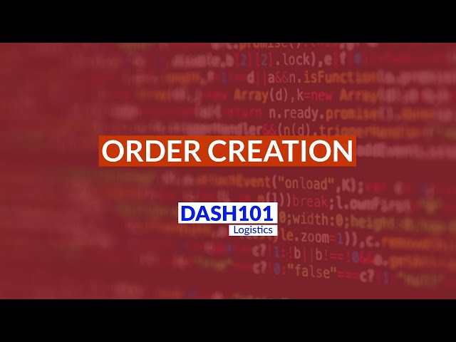 How to create orders on the Dash101 logistics seller panel?