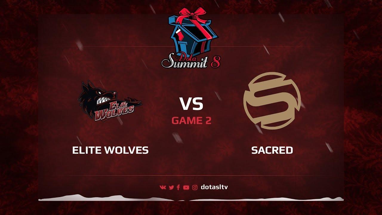Elite Wolves против Sacred, Вторая карта, Квалификация на Dota Summit 8