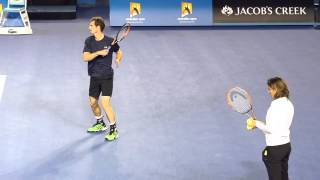Andy Murray: Final training day - Australian Open 2015