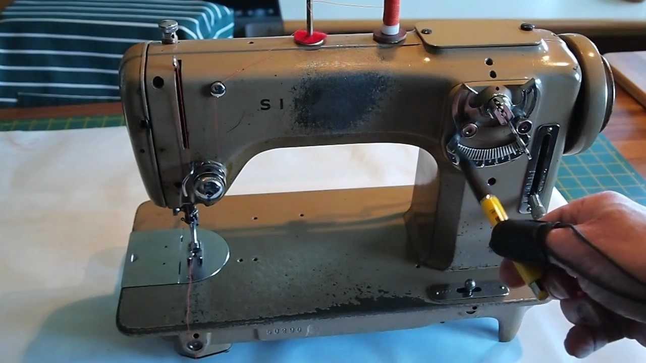 singer symaskine trådning
