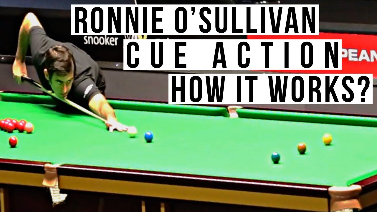 How Ronnie O'Sullivan Snooker Cue Action Works