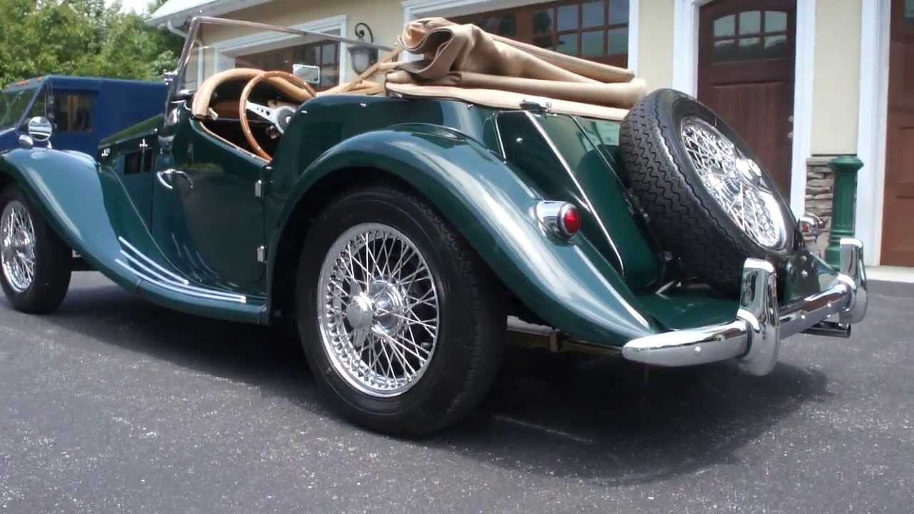 SOLD~~1955 MG TF1500 For Sale~British Racing Green~Rotisserie ...