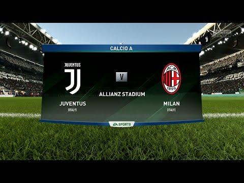 FIFA 18 | Juventus vs AC Milan - Allianz Stadium (Full Gameplay)