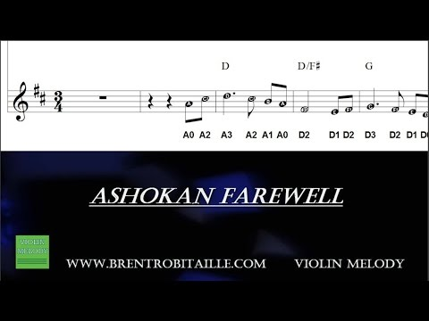 Violin - Fiddle - Sheet Music - Tab - Play Along - Ashokan Farewell