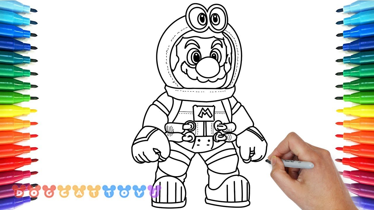 How to Draw Mario Odyssey Astronaut Mario 11 Drawing