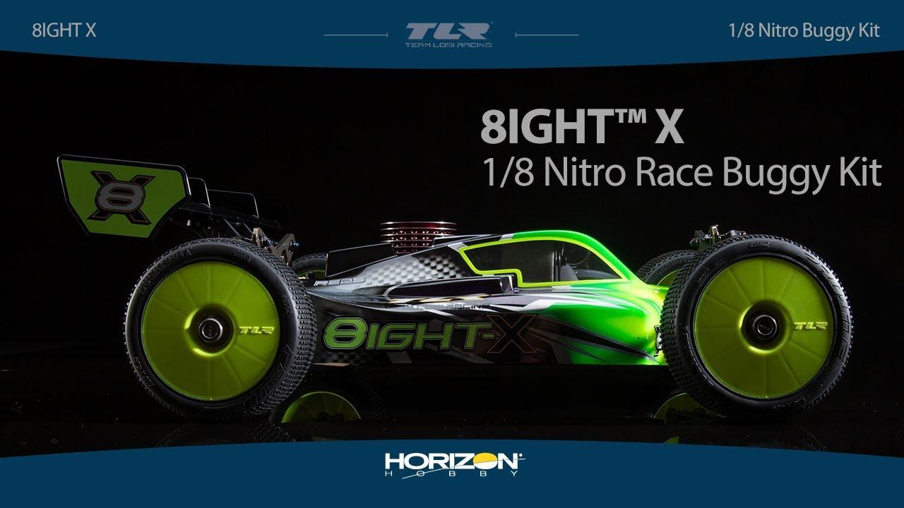 Team Losi Racing® 8IGHT-X Race Kit: 1/8 4WD Nitro Buggy