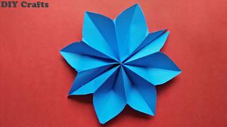 DIY Paper Stars ( EASY ) - Make Simple & Easy paper Star Using Color Paper and Stapler