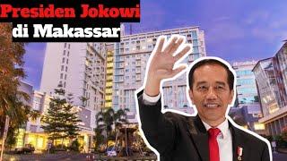 Presiden Jokowi Tiba di Hotel Grand Claruon Makassar