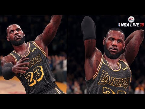 NBA LIVE 19 ROSTERS! LEBRON JAMES SIGNS WITH THE LAKERS! - NBA LIVE 18 LEBRON JAMES FRANCHISE MODE