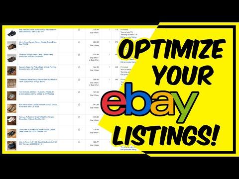 How To Optimize EBay Listing   Full Time EBay Reseller