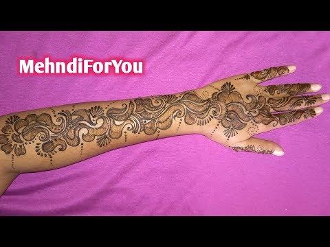 Full hand shaded Arabic mehndi design || Shaded Arabic mehndi || Back hand Arabic heena thumbnail