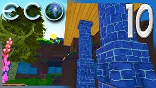 BUILDING A HOUSE WITH MORTARED STONE! Pt1 | ECO Multiplayer Gameplay S2E10