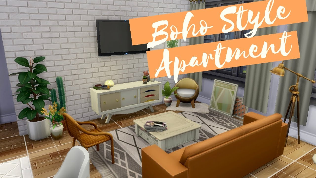 BOHO STYLE APARTMENT | The Sims 4 Stop Motion Build | No ...