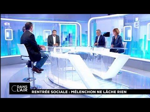 Rentrée sociale : Mélenchon ne lâche rien #cdanslair 01.09.2017