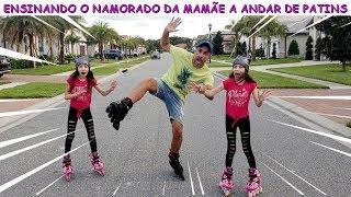 ENSINANDO O NAMORADO DA MAMÃE A ANDAR DE PATINS ♥ Teaching mom's boyfriend to skateboarding thumbnail