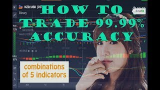 BINARY OPTION STRATEGY | how to trade 99 99% accuracy | combinations of 5 indicators