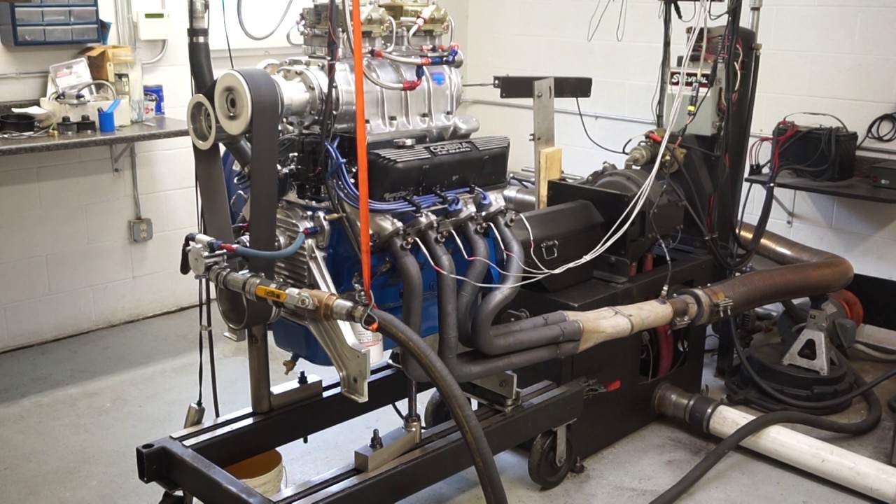 427 Ford with 6-71 blower - 700 Horsepower on dyno - YouTube