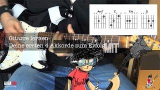 Gitarre lernen Deine ersten 4 Akkorde zum Erfolg Für Anfänger  (HD Akustik DeSade)