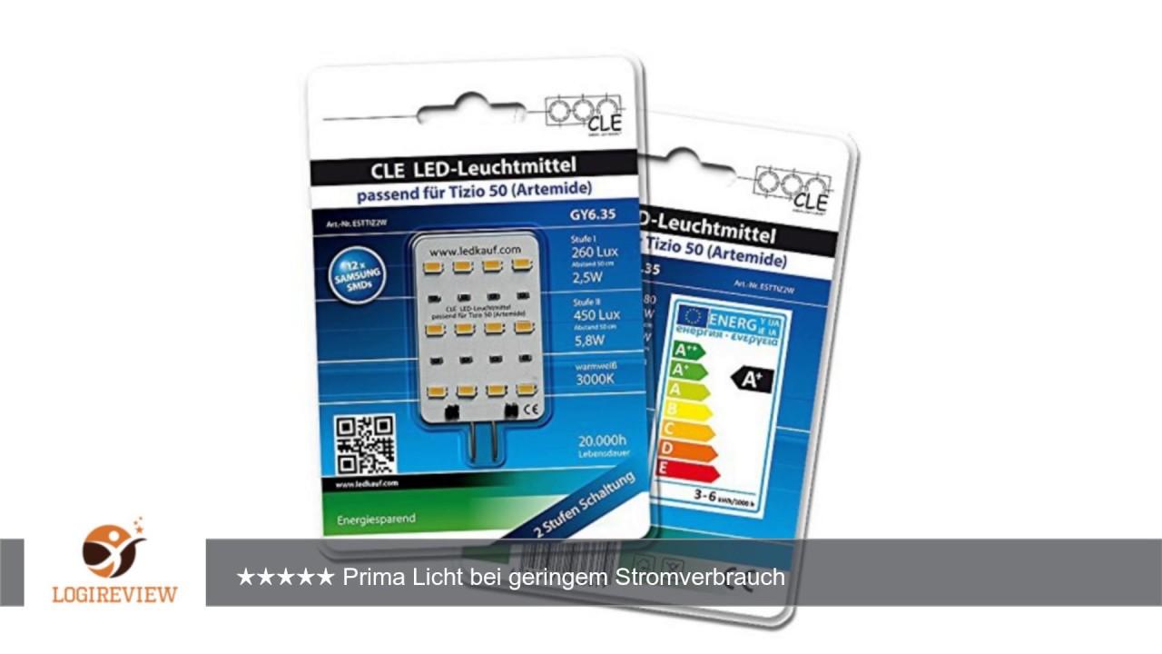 3x LED Ersatzleuchtmittel für Artemide Tizio 50 12V GY6.35 3000K 6 ...