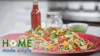 Cheddar Chicken Enchilada Skillet   Home Made Simple   Oprah Winfrey Network
