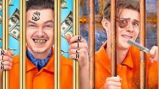 Богатый и бедный в тюрьме! 15 ситуаций