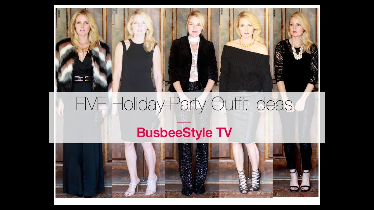 569408d1cdc2 FIVE Holiday Party Outfit Ideas | BusbeeStyle TV - YouTube
