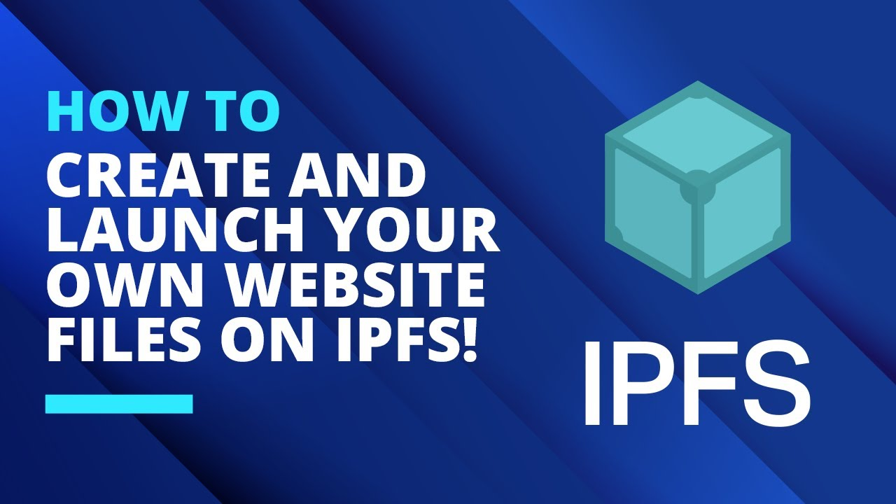 How To Create and Launch Your Own Website Files On IPFS!