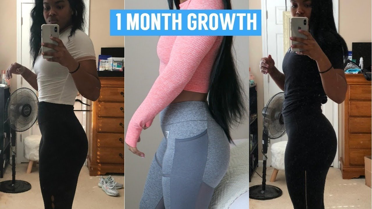 How To Get A Bigger Butt 1 Month Progress - Youtube-5509