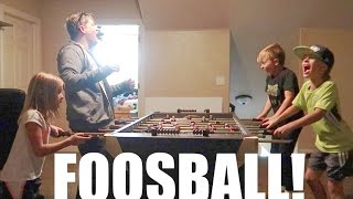 ⚽KIDS HILARIOUS REACTIONS PLAYING TABLE SOCCER🏆! YOU WANT A PIECE OF CAKE! DYCHES FAM