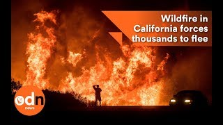 Wildfire in California forces thousands to flee homes