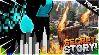 THE SECRET STORY BEHIND TILTED TOWERS' METEOR DESTRUCTION! - Fortnite Battle Royale Hidden Backstory