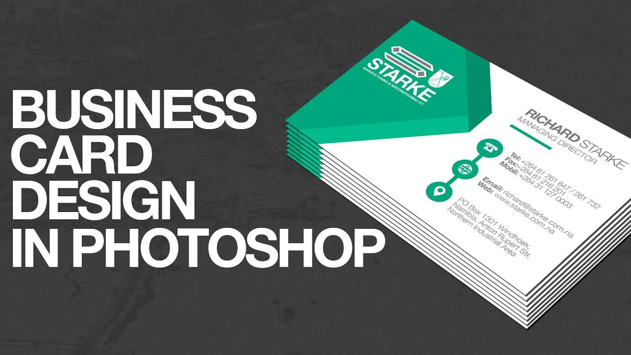 How to design a business card in photoshop youtube reheart Gallery