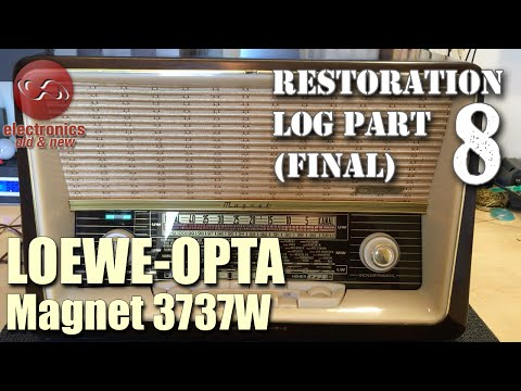 Loewe-Opta Magnet 3737W tube radio restoration - Part 8. Done and dusted. Ready for the next one.